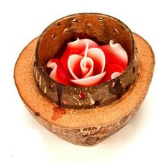 Candle Holders - Buy Scented Candle in a Wooden shell online in India | Dealtz.com