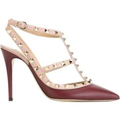 0bf9a92c8b8 Valentino Patent Round-Toe Ankle-Wrap Pump (30.155 RUB) ❤ liked on ...