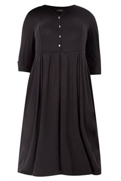 Discover plus size black dresses in sizes 16 to 40 here at Yours Clothing. Filled with a variety of styles, featuring everyday staples to chic party wear. Dress P, Skater Dress, Shirt Dress, Plus Size Black Dresses, Black Button, Party Wear, Plus Size Fashion, Size 16, Plus Size Women
