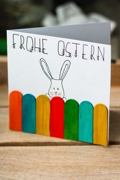 Basteln zu Ostern: DIY Osterkarte – Create Something On Easter Easter Gift, Easter Crafts, Happy Easter, Easter Bunny, Easter Card, Diy For Kids, Crafts For Kids, Happy Paintings, Diy Cards