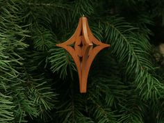 Bright Star 3-D Christmas Ornament - Star Ornament, Christmas Star, Star of Bethlehem. $12.50.