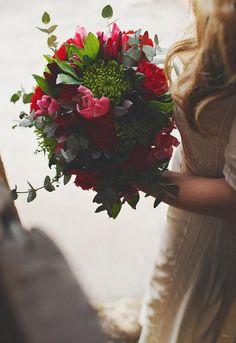 Boho wedding in Santorini_ wedding bouquet