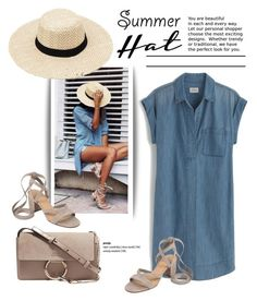"""""""Top It Off: Summer Hats"""" by cruzeirodotejo ❤ liked on Polyvore featuring J.Crew, Chloé, Ivanka Trump and summerhat"""