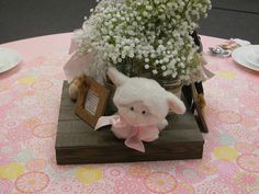 Lamb Baby Shower - Centerpiece