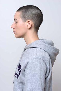 Simple, low-maintenance hair that still turns heads. Cut My Hair, Her Hair, Hair Cuts, Buzz Cut Women, Buzz Cuts, Buzzed Hair Women, Shaved Hair Women, Hair Inspo, Hair Inspiration