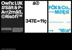 A2 typeface #Heavyweight #ParallelPractice #Mutanta #JanHorcik
