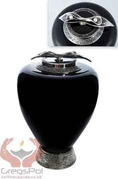 Exclusive Black Pearls Glass Cremation Urn For Adult Funeral Urn For Ashes - unique.urns_caskets - 1
