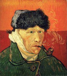 Автопортрет с перевязанным ухом и трубкой | Искусство Ван Гога