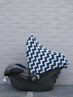 Zonnekap Chevron sun hood grey black canopy sonnenverdeck bezug cover hoes bekleding pimp car seat maxi cosi