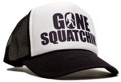 Gone Squatchin' One-Size Black/White Unisex Adult Trucker #Hat