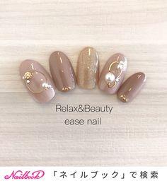 ..親指の#ワイヤーネイル が可愛いデザイン❤️🤤.---------------------------Relax&Beauty...|ネイルデザインを探すならネイル数No.1のネイルブック Get Nails, Love Nails, Hair And Nails, Japanese Nail Design, Japanese Nail Art, Gel Nail Designs, Cute Nail Designs, Japan Nail, Korean Nails