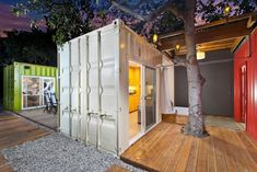 Home Architecture, Best Design Of Venice House Container Home With White Wall Color Idea With Brown Laminating Flooring With Nice Style Of Lighting Looked Well And Breathtaking Ways: Sweet Design Of Shipping Container Homes California Looked Elegant And Breathtaking