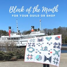 Free block of the month program for your guild or shop! New York Beauty, Scrap Busters, Half Square Triangles, Foundation Paper Piecing, Block Of The Month, Boxing Day, Flying Geese, Little Houses, Programming