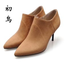 71.24$  Watch now - http://ali75p.shopchina.info/1/go.php?t=32739431810 - 2017 Size 34-41 Fashion Side zipper New High Heels Spring Autumn Women Boots Ankle Ladies Shoes Woman Chaussure Femme  #buyininternet