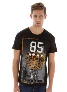 Black Animal Printed T-Shirt