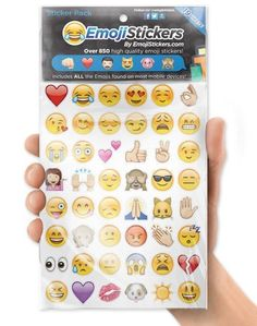 Emoji isn't just for your phone! Bring them to the real world with these emoji stickers.