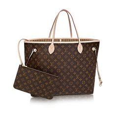 62b2d2fa9 BOLSA LOUIS VUITTON NEVERFULL MONOGRAM Bolsas Elegantes, Bolsas De Mão Lv, Bolsas  Louis Vuitton