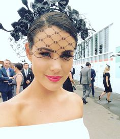 """Stephanie Spencer on Instagram: """"✨@claresyy looking absolutely FLAWLESS at #derby today, in #stephaniespencermillinery signature Black Orchid headband✨ #derbyday…"""""""