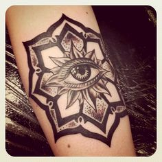 mandala. meditation circle. on forearm maybe?
