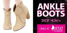 fashionable Ankle Booties! Shop for great deals on fashionable Ankle Booties!  #fashion #boots #ankleboots #sexy #online #shop