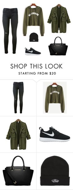 """Untitled #1"" by the-gray-dayy on Polyvore featuring Hudson, NIKE, MICHAEL Michael Kors and Vans"