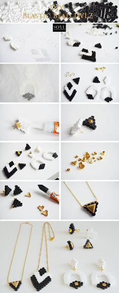 DIY time Hama/ Perler beads Plastic jewellery SOYL blog