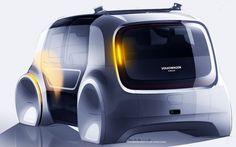 "130 Likes, 2 Comments - Darius Hildebrandt (@dariushildebrandt) on Instagram: ""Some of my Sketches for the SEDRIC Project. #sedric #volkswagen #future #autonomous #design…"""