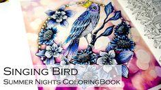 Singing Bird | Adult Coloring Book: Summer Nights/Sommarnatt by Hanna Karlzon