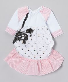 Take a look at this White Golfer Ruffle Dress - Infant, Toddler & Girls by Mini Shatsu on #zulily today!
