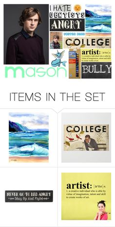 """""""Mason"""" by gleejunkie007 ❤ liked on Polyvore featuring art"""