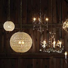 Let the soirée begin. Hand strung with hundreds of faceted crystals to reflect and refract the light, our global-chic chandelier adds festive sparkle to every occasion.