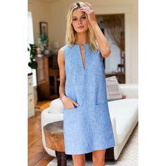 Mod Shift, Chambray Linen - Orders Now Open! Zara Fashion, 90s Fashion, Retro Fashion, Korean Fashion, Boho Fashion, Fashion Dresses, Vintage Fashion, Fashion Jewelry, Summer Fashion Trends
