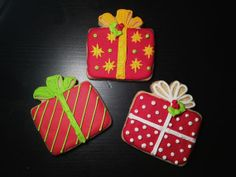 Holiday Presents Hand Decorated Sugar Cookies