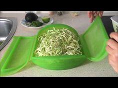 Espaguetis calabacín con salsa de aguacate en estuche de vapor Lekue - YouTube