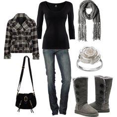 Classy, comfy & casual. jacket, ugg boots, cozy winter, cozy outfits, winter looks, comfy casual, winter outfits, winter fashion, spring outfits