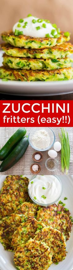 Zucchini Fritters are crisp on the edges with tender centers. These zucchini fritters are a kid-friendly family favorite. Great for summer time when your garden is filled with zucchini, or any time of the year! #natashaskitchen