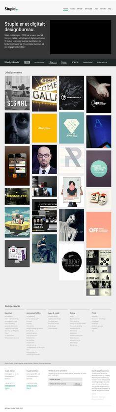 Agence Danoise  The website http://stupid-studio.com/ courtesy of @Pinstamatic (http://pinstamatic.com)