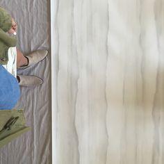 Hand Painted Wallpaper + Fromental + Interior Design + Adam Hunter + Travertine