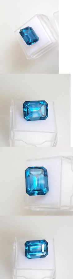 Topaz 10270: 10.93Ct. Emerald Cut Genuine (Natural) London Blue Topaz ( 14X10mm) Loose Stone -> BUY IT NOW ONLY: $79.0 on eBay!