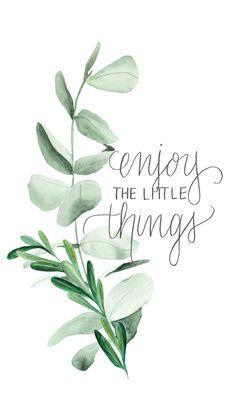 Disfruta las cosas pequeñas.