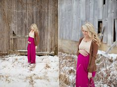 awesome maternity style. Love the bright color in the photos