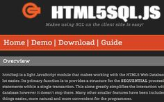 html5sql is a light JavaScript module that makes working with the HTML5 Web Database a whole lot easier. Its primary function is to provides a structure for the SEQUENTIAL processing of SQL statements within a single transaction. This alone greatly simplifies the interaction with the database however it doesn't stop there. Many other smaller features have been included to make things easier, more natural and more convenient for the programmer.