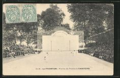 splendide-CPA-Dax-Le-Fronton-Partie-de-Pelote-a-Chistera