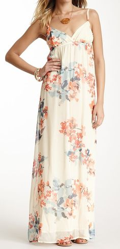 Gypsy05 Silk Spaghetti Maxi Dress