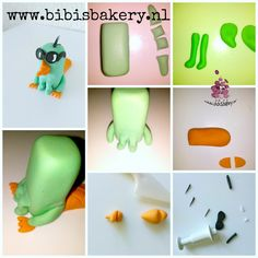 Pictorial on how to model Perry the Platypus from the animation series Phineas and Ferb, out of fondant icing. Enjoy!