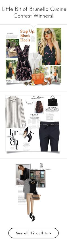 """""""""""A Little Bit of Brunello Cucinelli"""" Contest Winners!"""" by colierollers ❤ liked on Polyvore featuring Brunello Cucinelli, Rebecca Taylor, Valentino, CÉLINE, Elizabeth Arden, Christian Louboutin, plus size clothing, Lara, Alexis and Chanel"""