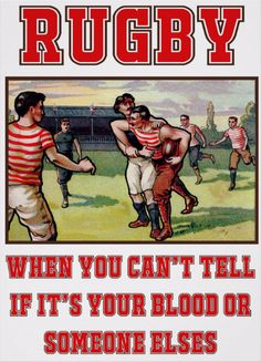 Rugby Blood Poster. Give Blood, Plat Rugby. Printed on Poster Paper (Semi-Gloss) but available in other paper & canvas options. One for the rugby fan's wall! http://www.zazzle.com/rugby_blood_poster-228763158973325795 #rugby #sport #humor #humour #poster