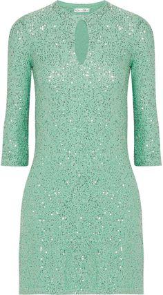 Oscar de la Renta Sequined silk-blend mini dress on shopstyle.com