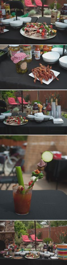 Bloody Mary Bar complete with Bacon Swizzle Sticks…
