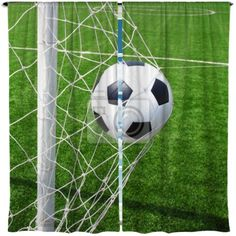 Watercolor Soccer Ball Custom Size Window Curtains Soccerwindowcurtains Soccerdrapes Soccerwindowpanels Soccerblockou